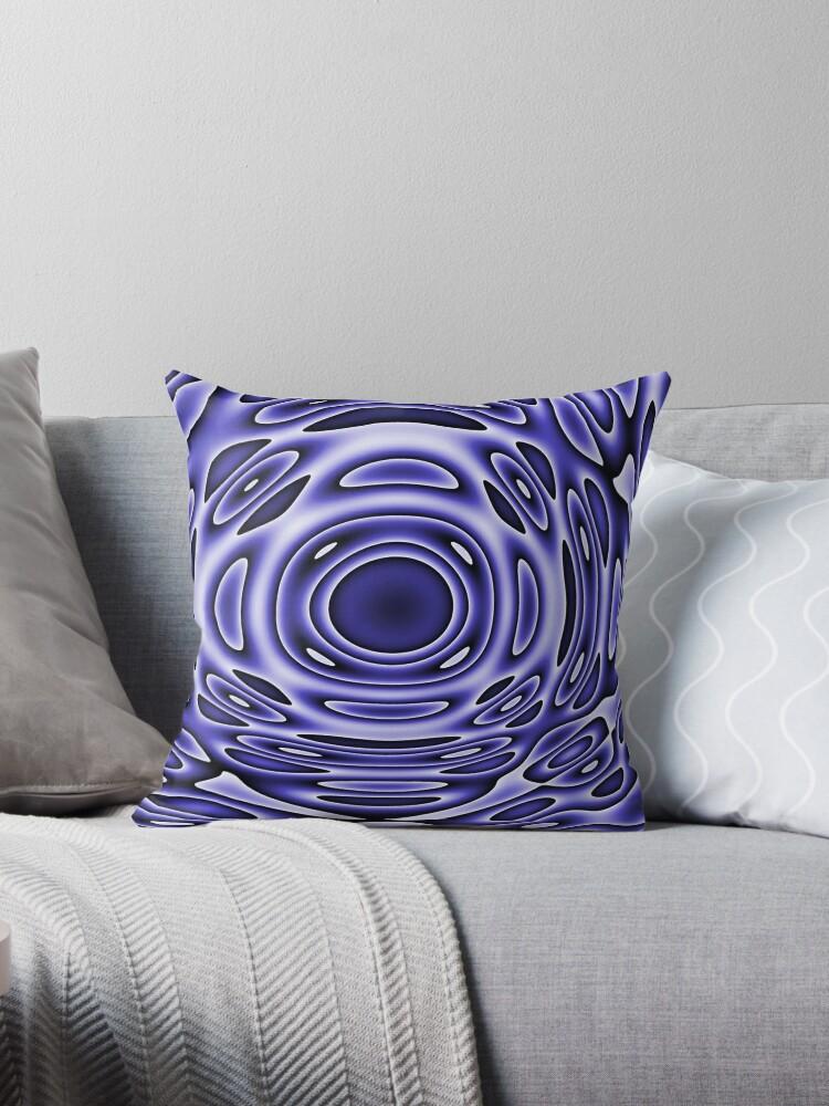 Psychodelia Purple Black and White Groovy Art - Trippy Design Gift by OneDayArt