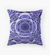 Psychodelia Purple Black and White Groovy Art - Trippy Design Gift Throw Pillow