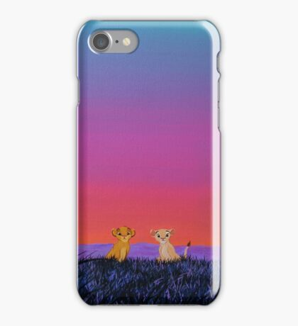 The Lion King - Simba and Nala in Savannah iPhone Case/Skin