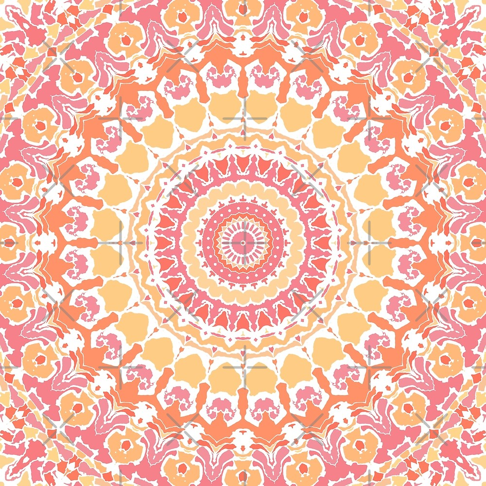 Sunshine in the Summer Mandala by Kelly Dietrich