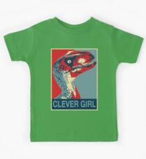 Raptor Propaganda - Clever Girl  Kids Tee