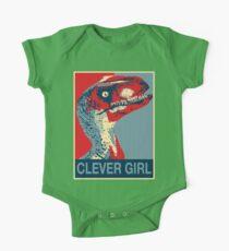 Raptor Propaganda - Cleveres Mädchen Baby Body Kurzarm