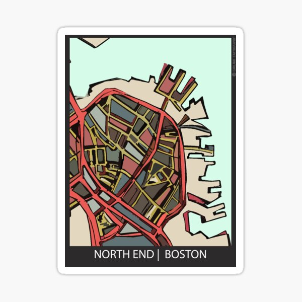 Boston North End Sticker