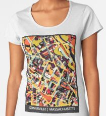ABSTRACT MAP OF SOMERVILLE MA Premium Scoop T-Shirt