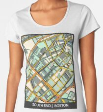 ABSTRACT MAP OF BOSTON SOUTH END Premium Scoop T-Shirt