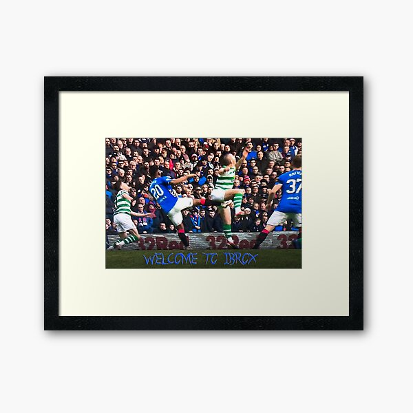 Ouch, Welcome to Ibrox Framed Art Print