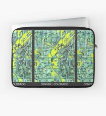 ABSTRACT MAP OF DENVER, CO Laptop Sleeve