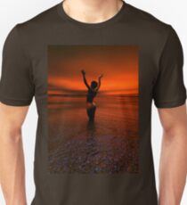 Erotic art hot sex Girl on the beach Unisex T-Shirt