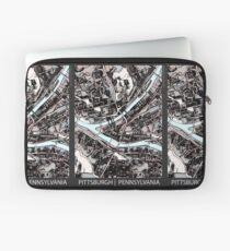 ABSTRACT MAP OF PITTSBURGH, PA Laptop Sleeve