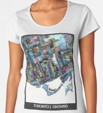 ABSTRACT MAP OF TORONTO, ONTARIO Premium Scoop T-Shirt