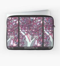 ABSTRACT MAP OF WASHINGTON, DC Laptop Sleeve