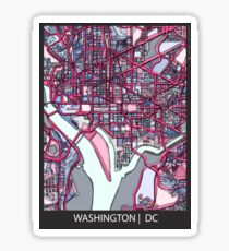 ABSTRACT MAP OF WASHINGTON, DC Sticker