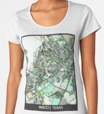 ABSTRACT MAP OF WACO, TX Premium Scoop T-Shirt