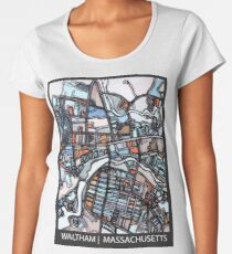 ABSTRACT MAP OF WALTHAM MA Premium Scoop T-Shirt