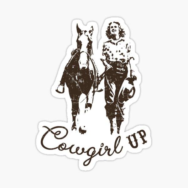 Cowboy Up Western Cowboy Cowgirl  Graphic Tee T shirt Sticker