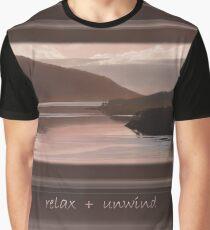 "Loch Sunart Refections ""Relax + Unwind"" Graphic T-Shirt"