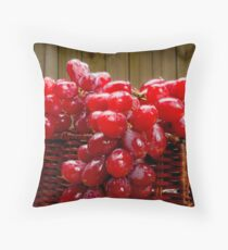 Red delicious grapes  Floor Pillow