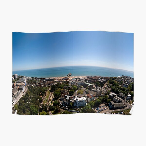 Bournemouth from above Poster