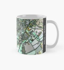ABSTRACT MAP OF WACO, TX Classic Mug