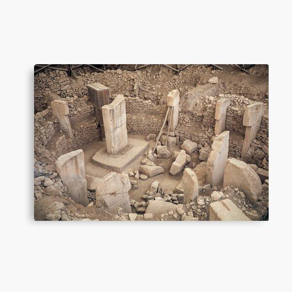 Ancien site de Göbekli Tepe dans le sud de la Turquie Impression sur toile
