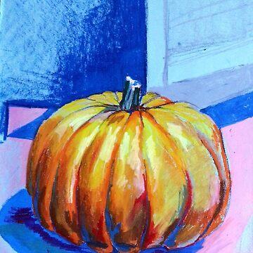 Oil Pastel Pumpkin by joannaalmasude