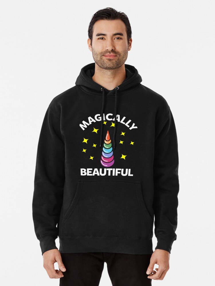 Beautiful Unicorn Printed Hoodies for Men Pullover Hooded Shirts