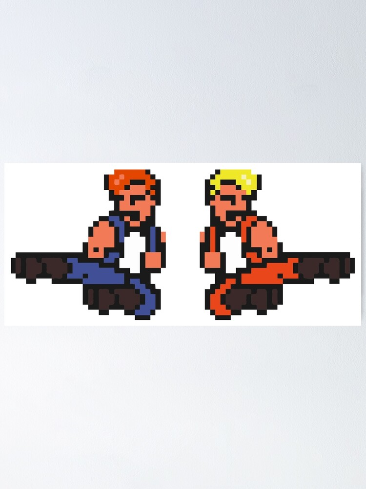 Double Dragon 80 S Arcade Game Poster By Lcfcworld Redbubble