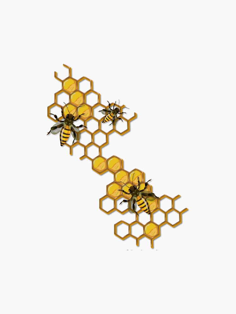 Bee Honeycomb Sticker by tullabee