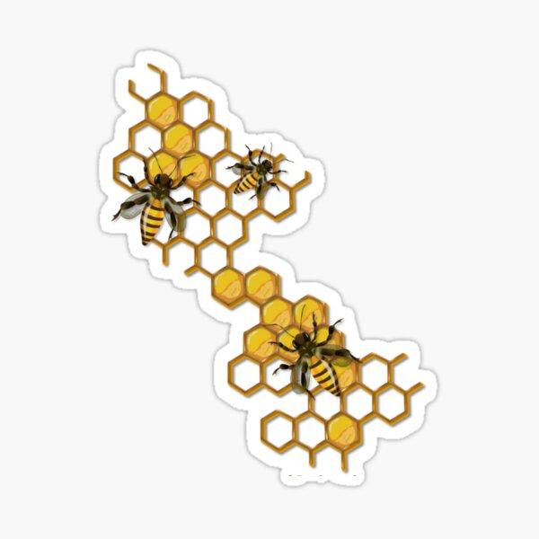 Bee Honeycomb Sticker Sticker