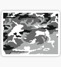 Graues Camouflagemuster Sticker
