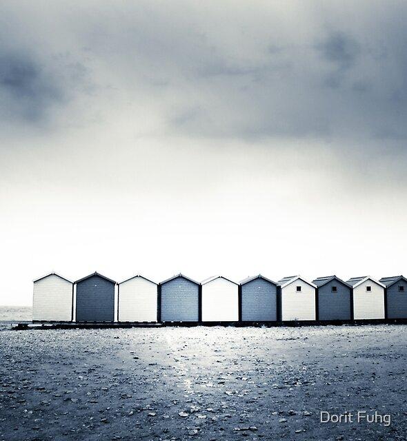Charmouth Beach Huts by Dorit Fuhg