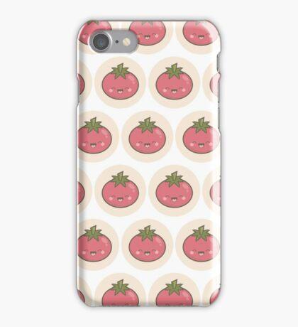 Happy Kawaii Tomato iPhone Case/Skin
