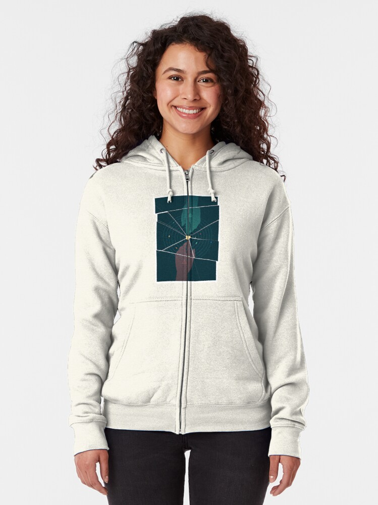 Alternate view of Parallel Universe Zipped Hoodie