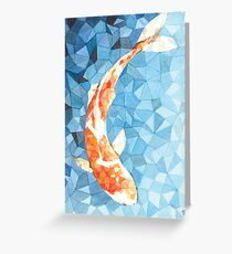 Koi Fish - geometric Greeting Card