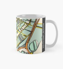 ABSTRACT MAP OF BOSTON SOUTH END Classic Mug