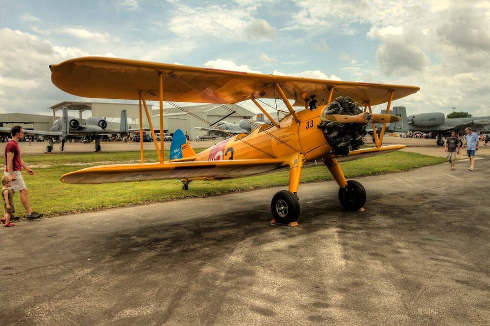 Bi-Plane in Yellow by Terence Russell