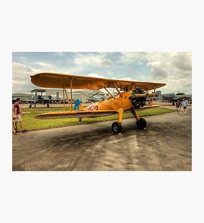 Bi-Plane in Yellow Photographic Print