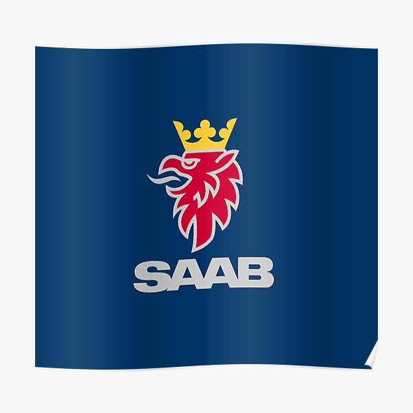 Saab logo products Poster