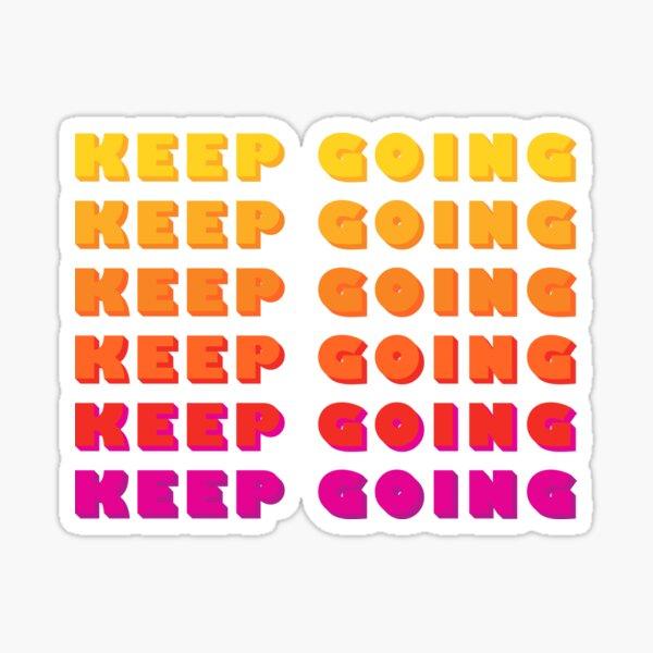 KEEP GOING rainbow typography Sticker