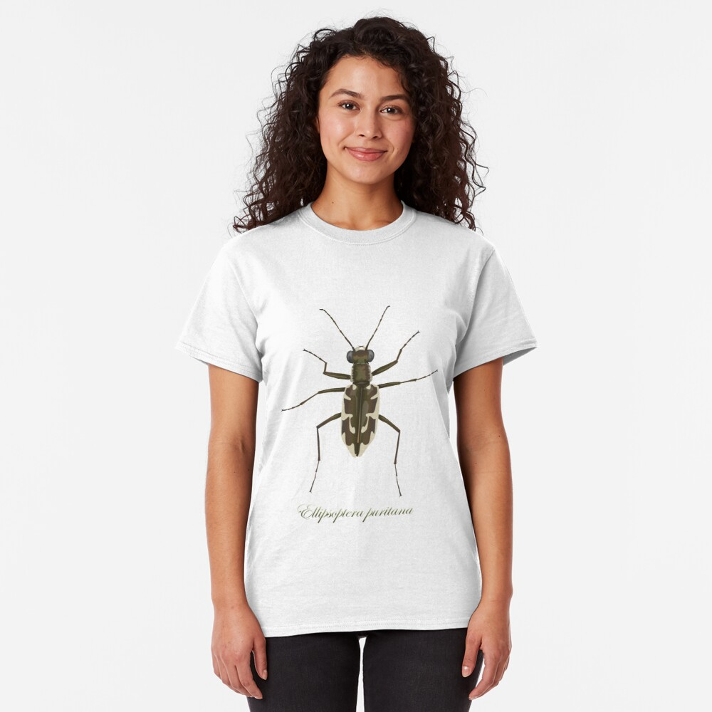 Puritan tiger beetle, Ellipsoptera puritana Classic T-Shirt