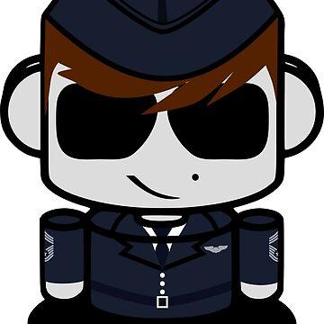 HERO'BOT Pilot Mac Blake by carbonfibreme