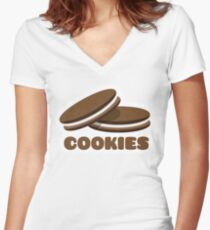 Cookies Fitted V-Neck T-Shirt