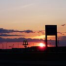 Sunset  From Walmart Parking Lot,Kindersley Sask,Canada by MaeBelle