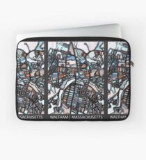 ABSTRACT MAP OF WALTHAM MA Laptop Sleeve