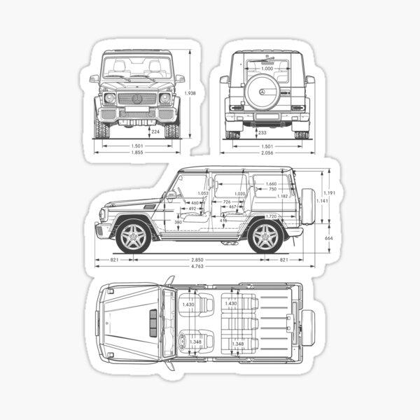 G-Wagon Blueprint Sticker