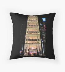 UNIQLO Ginza Streetscape, Chūō, Tokyo Throw Pillow