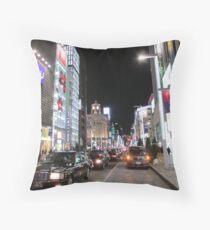 Ginza Streetscape, Chūō, Tokyo Throw Pillow