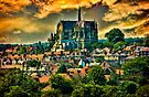 The Cathedral at Arundel with Surrounding Village by Chris Lord