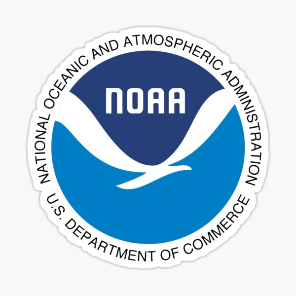 National Oceanic and Atmospheric Administration Logo Sticker