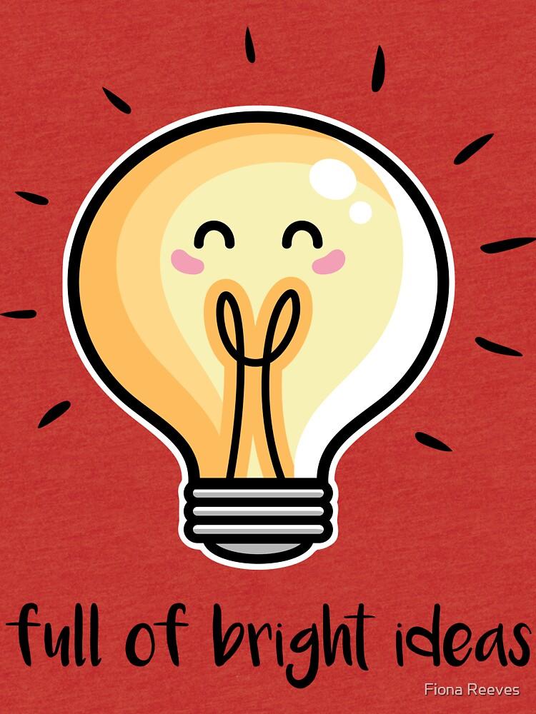 Kawaii Cute Lightbulb Of Bright Ideas by freeves